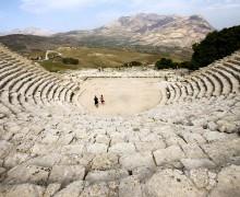 Ancient Greek theatre, photo by Matthias Süßen, under Creative Commons license