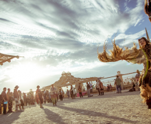 The Temple at Burning Man, photo by Jason Mongue, courtesy Spark documentary