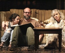 L to R - Sarah Steele, Eric Lange, Blythe Danner - Photo by Michael Lamont