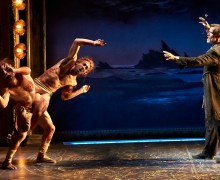 (l-r) Zachary Eisenstat, Mannelich Minniefee and Tom Nelis in The Tempest