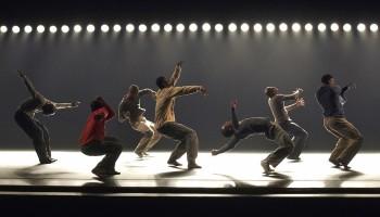 Alvin Ailey American Dance Theater in Hofesh Shechter's Uprising.  Photo by Paul Kolnik