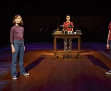 Judy Kuhn, Oscar Williams, Zell Steele Morrow, Sydney Lucas, and Michael Cerveris in Fun Home