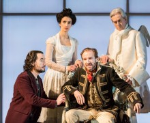 Indira Varman and Ralph Fiennes in the NT Live broadcast of Man and Superman Credit: Johan Persson
