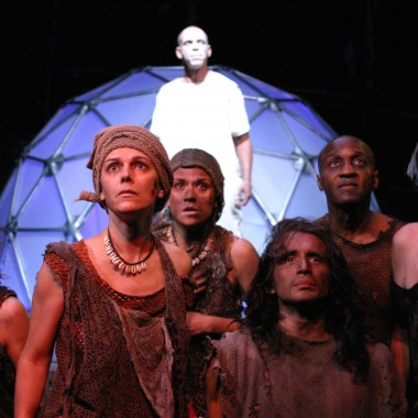 The cast of Oedipus Machina at The Odyssey Theatre.