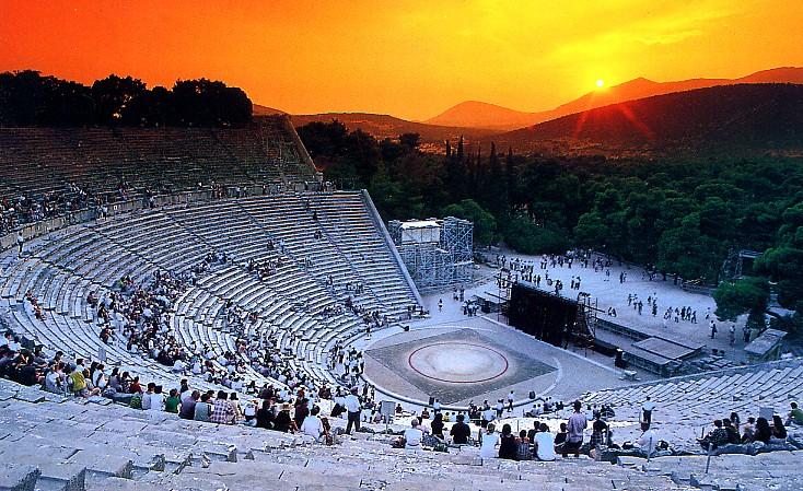 EpidaurusTheaterByNight