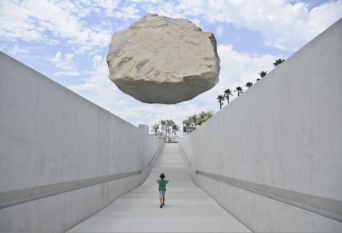 Floating Rock at LACMA- Adam