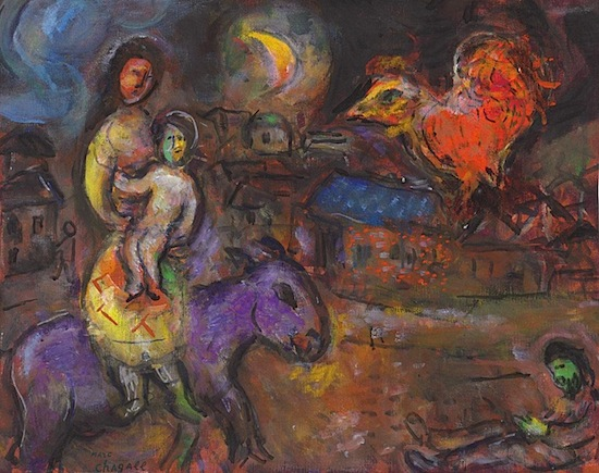 Chagall_Marc-Mother_and_child_on_the_brown_donkey