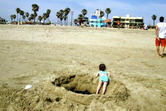 """Sink Hole"" Venice Beach, May, 2002"