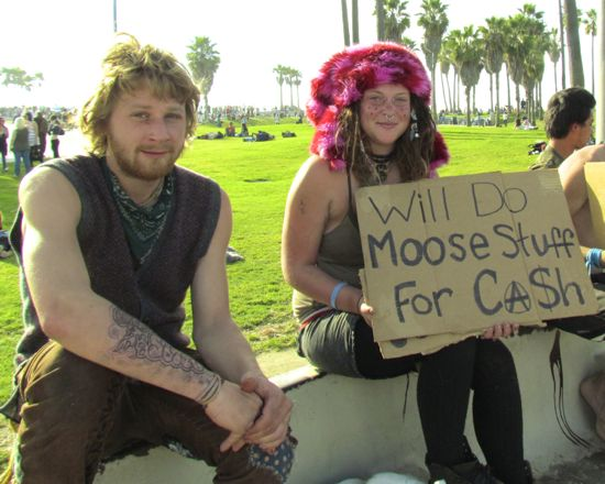 """Will Do Moose Stuff For Cash, Part 1"" Venice Beach Boardwalk, January 2011"