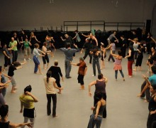 Ohad Naharin leads a Gaga Movement class