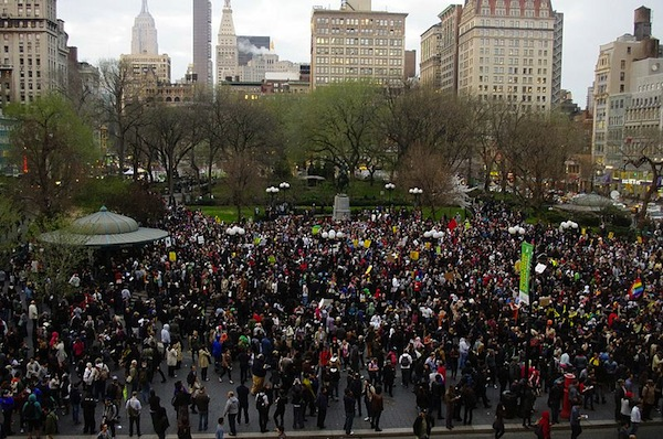 From the Million Hoodies Union Square protest in New York / Courtesy Wikimedia
