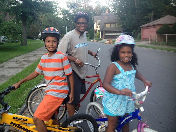 Dickerson Family on Palmer Park Bike Ride, Photo: Sarah James
