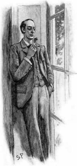 Sidney Paget's rendering of Holmes from The Naval Treaty.