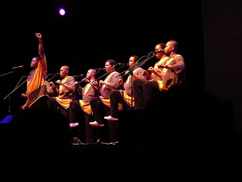 Ladysmith Black Mambazo in concert at Ravinia, ohoto by Stephen Neilson, via flickr, Creative Commons license