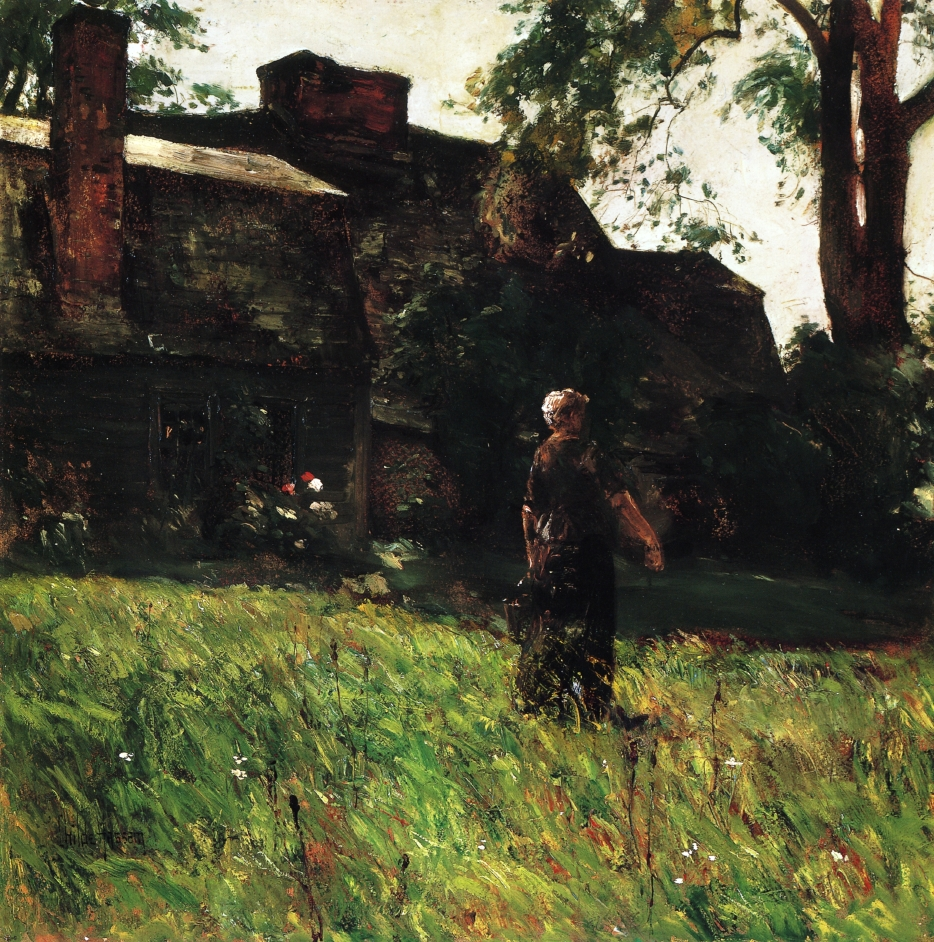 The Old Fairbanks House, by Childe Hassam, (1884), courtesy of Wikipaintings