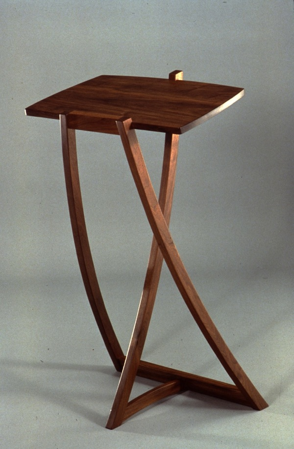 "Dictionary Stand by Peter Korn, walnut (24""x16.5""x40""), 1981"