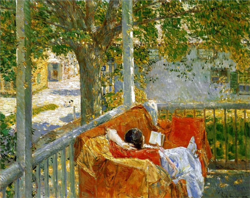 Couch on the Porch, (1914) by Childe Hassam, courtesy of Wikipaintings