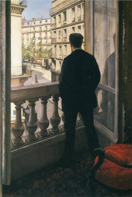 Man at the Window, (1875), by Gustave Caillebotte