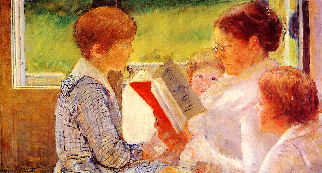 Mrs. Cassat Reading to her Grandchildren, (1885), by Mary Cassat, courtesy of Wikipaintings
