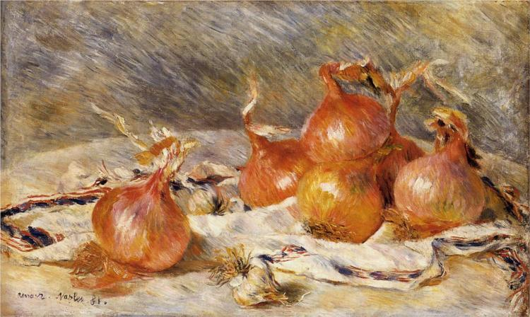 Onions, (1881) by Pierre August Renoir, courtesy of  Wikipaintings