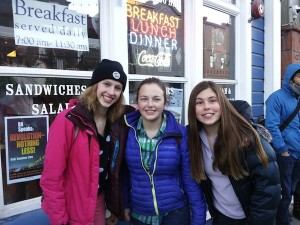 Famous in Park City, as they tagged themselves (from left): brynajeanne13, Sierra Wells, Charlotte Lampe