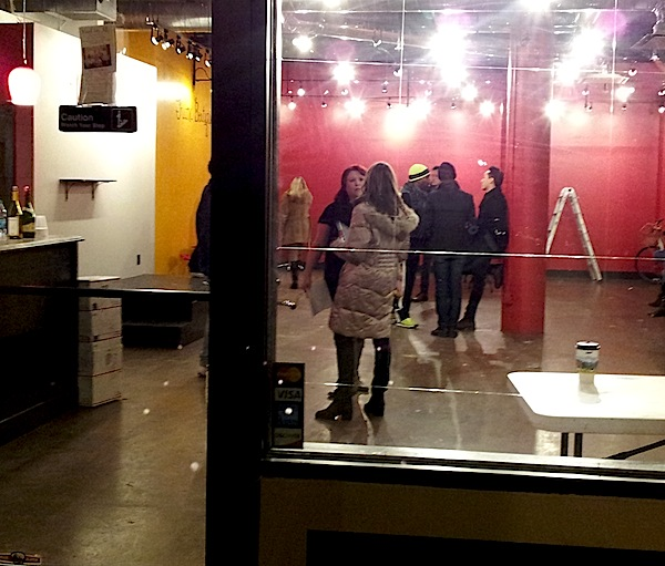 'We're doing this Sundance-style,' they said at the Google Lounge, where the paint was drying well into the night.