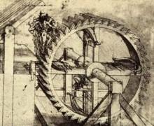 Leonardo Da Vinci, Crossbow Machine, (between 1480-1482) courtesy of Wikipaintings