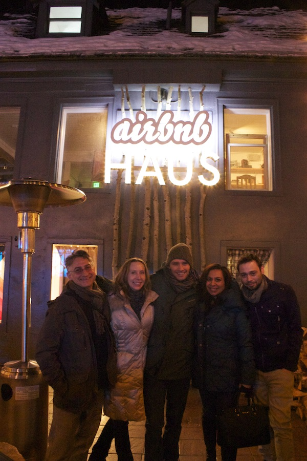Our crew outside the Airbnb Haus.