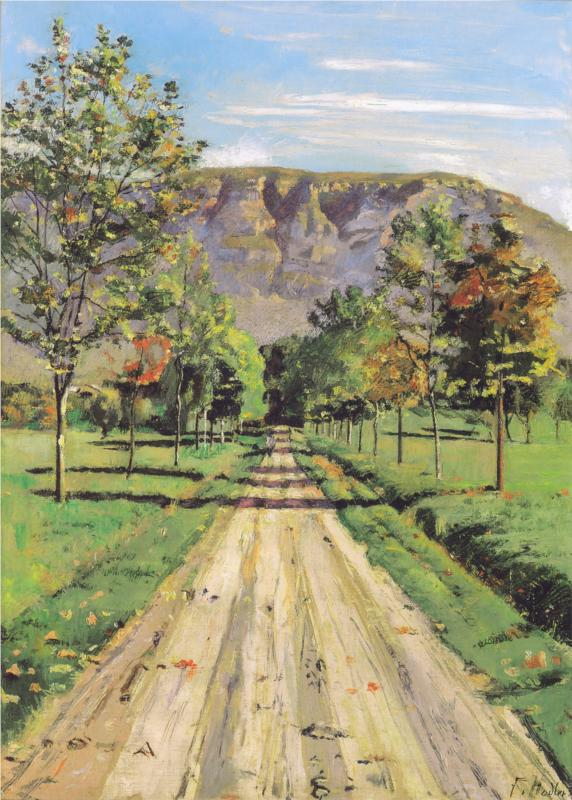 The Road to a Particular Interest, (1890) by Ferdinand Hodler, courtesy of Wikipaintings