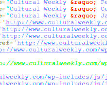 Poetry in HTML code