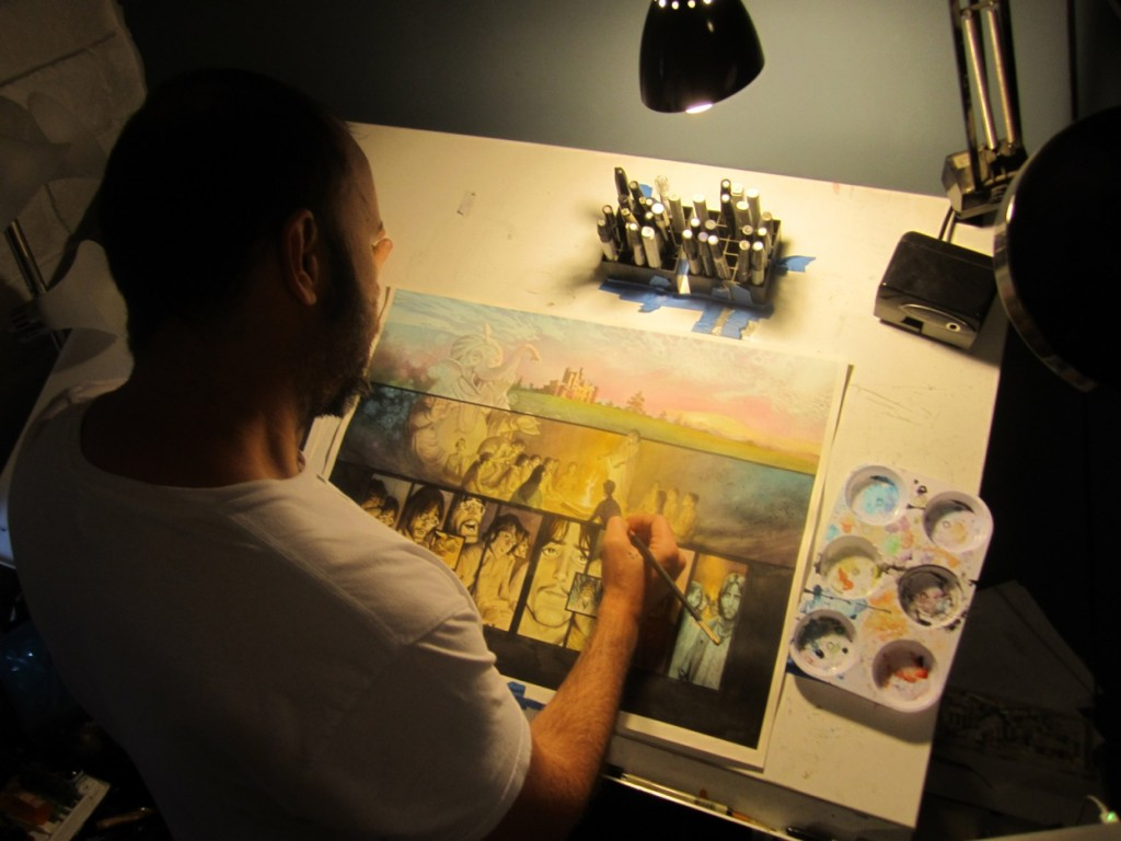 Andrew C. Robinson at work on The Fifth Beatle