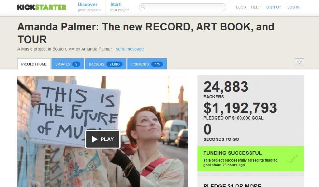 Amanda Palmer revolutionized crowdfunding