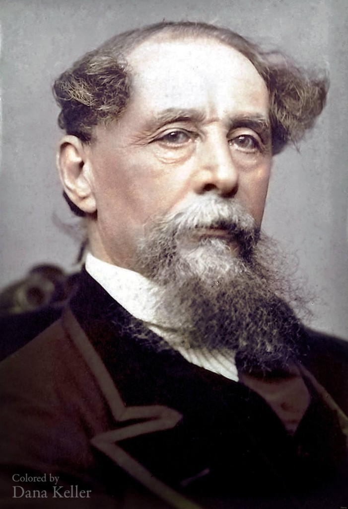 Charles Dickens colorized photo