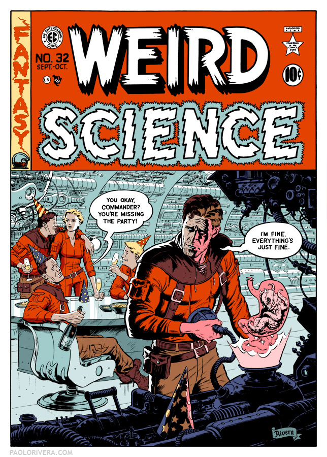 Weird Science cover after color is added