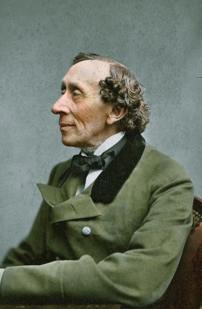 Hans Christian Andersen colorized photo