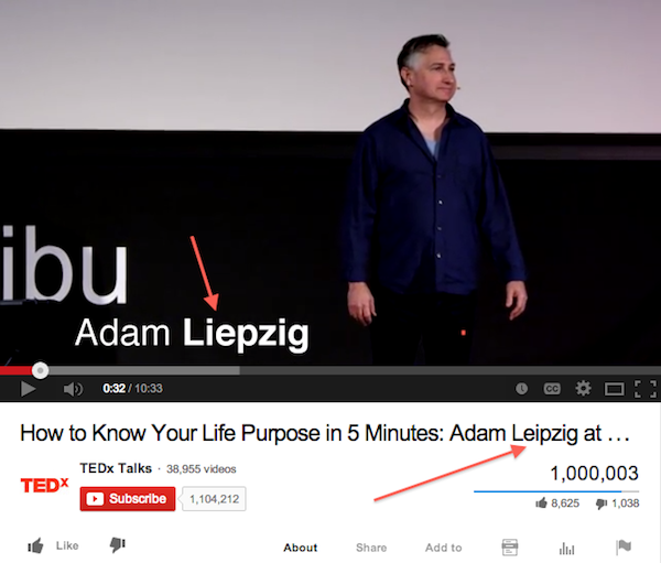 Spellcheck! YouTube has it right; it's Adam LEIPZIG