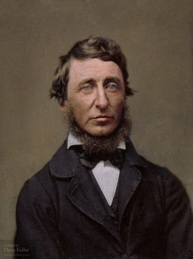 Colorized photo of Henry David Thoreau