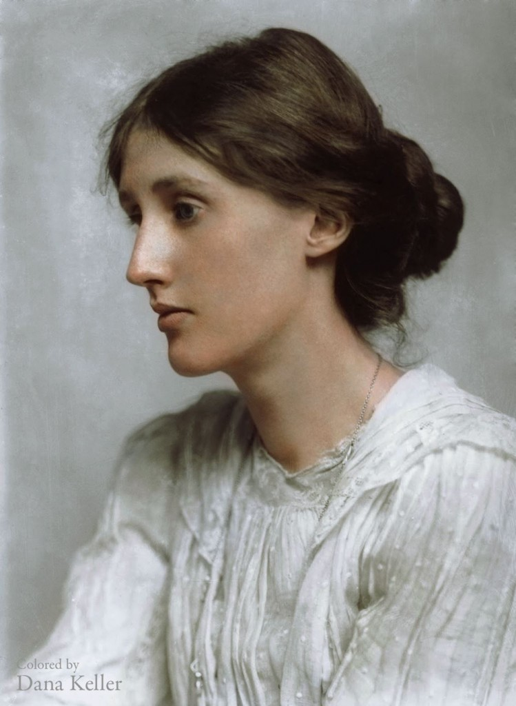 Virginia Woolf colorized photo