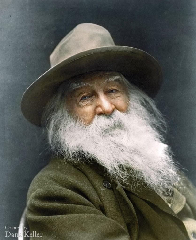 Walt Whitman colorized photo