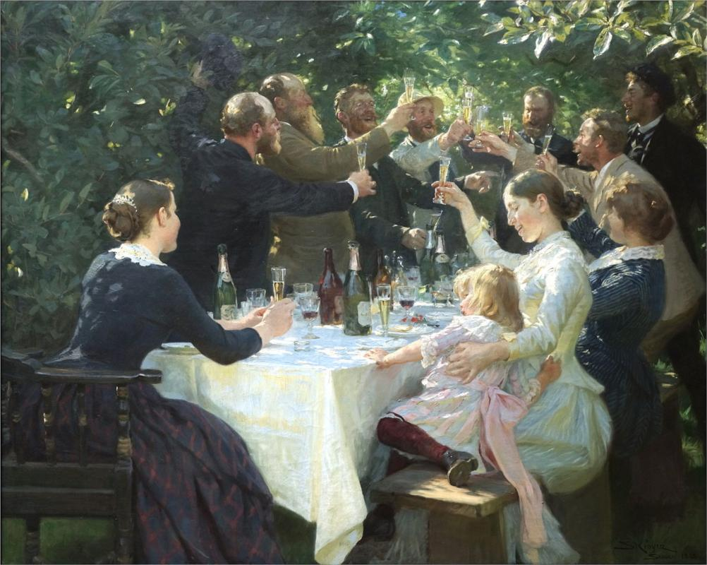Hip Hip Hurrah, (1888) by Peder Joseph Severin, courtesy of Wikipaintings