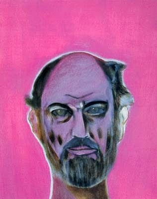 Allen Ginsberg painted by Francisco Clemente