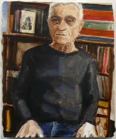John Diorno painted by Elizabeth Peyton