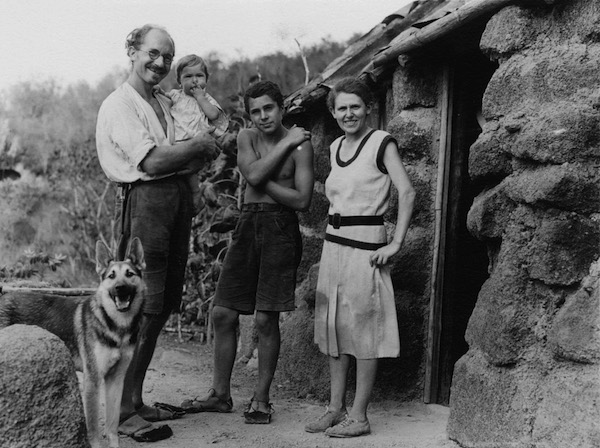The Wittmer Family in front of the home on Floreana circa 1932