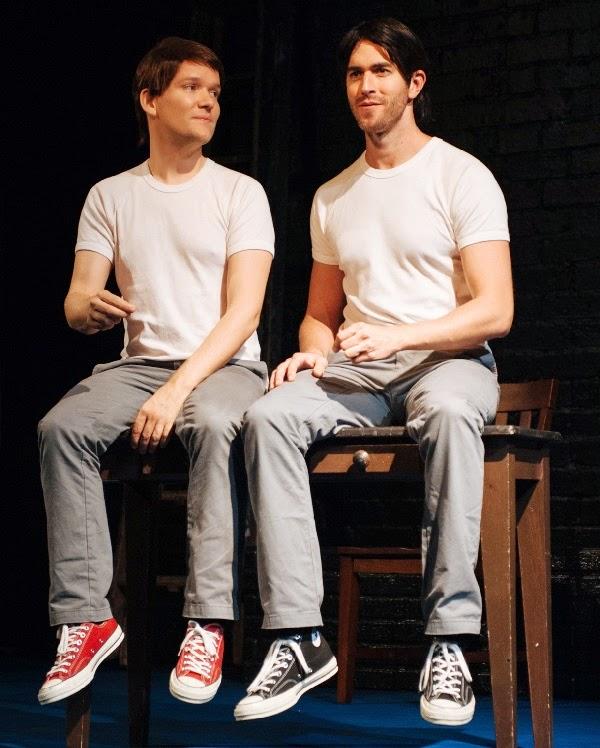 (l-r) Nate Jones and Adam J.Yeend in Holding the Man
