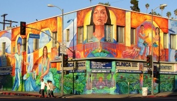 Mural on Sunset Blvd. in Los Angeles