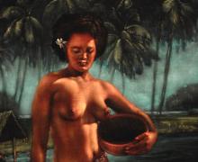 "Detail from ""Tahitia"" by Edward Leetag"