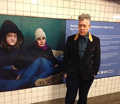 Andres Serrano at the Washington Square subway. Photo by Kristina Susac