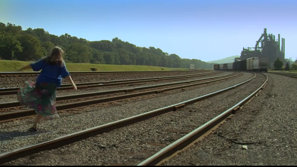 A Globe Trotter on a distant railroad track
