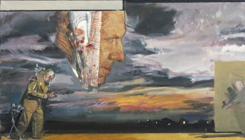 JEROME WITKIN VINCENT AND HIS DEMONS II, 2012 Oil on Canvas 16 x 28 inches