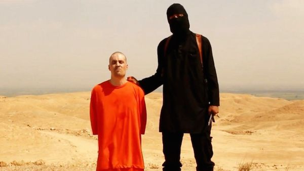 Still from the video of James Foley's execution